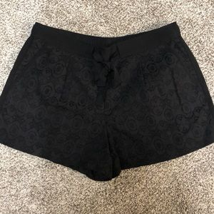 LOFT Black Lace Shorts